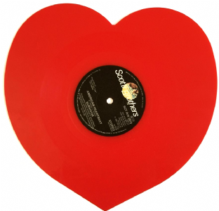 "Survivor - American Heartbeat (7"") (Heart-Shaped Red Vinyl) (VG-/NM)"